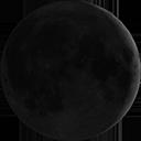 Zunehmender Mond.